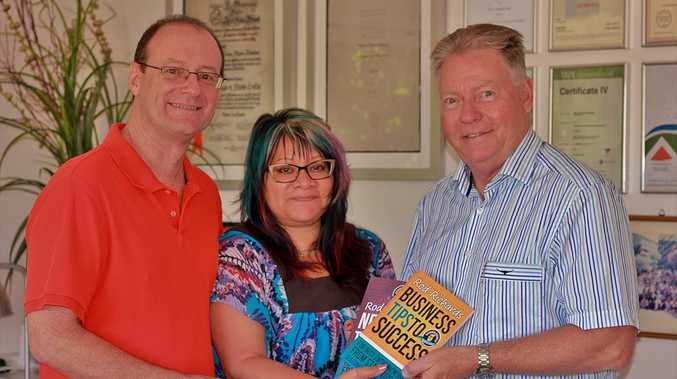 Publishers Paul and Taty Hindes, of Soul Space, with author and business consultant Rod Richards, right.
