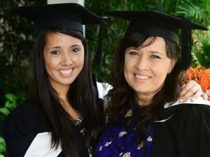 Mum and daughter graduate side by side at UQ Ipswich