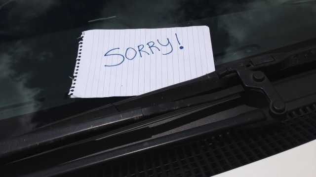 A study has shown the majority of people don't leave a note when they damage another person's parked car.