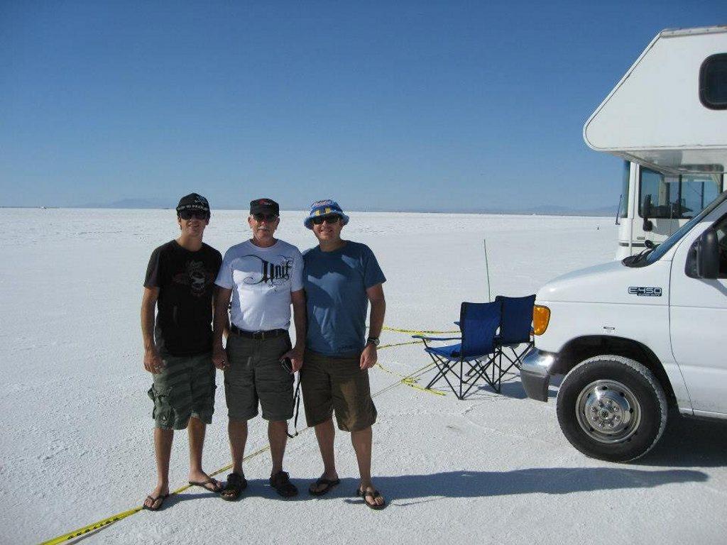 SPEEDSTERS: The Afflecks out on the Bonneville Salt Flats