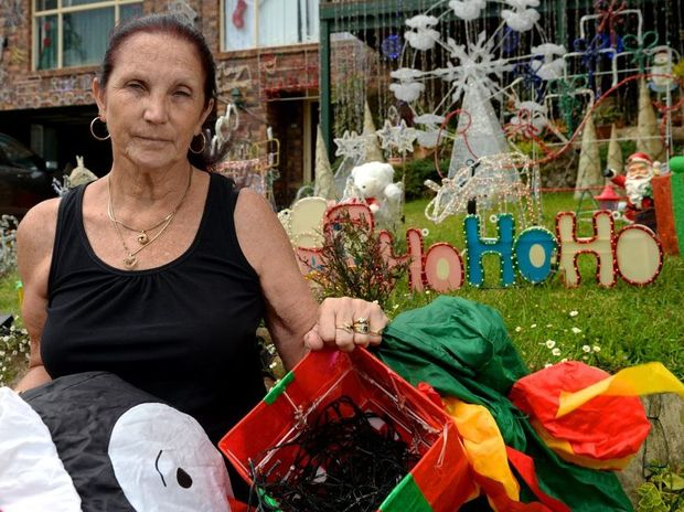 Goody Smith is angry after some of her Christmas decorations in her lights display were vandalised overnight.