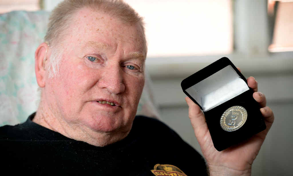 LIVING LIFE: Doug Simpson with his award for living with type 1 diabetes for 50 years.