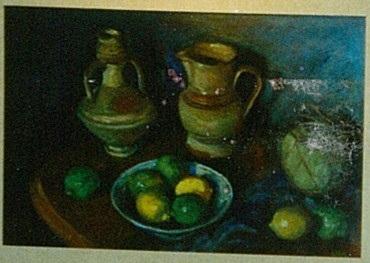 Margaret Olley's painting Lemons and ginger jar, 1980