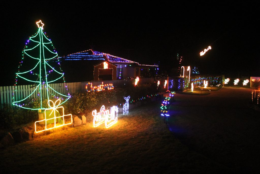 LIGHTING THE NIGHT: Entries will soon close for the Christmas Lights Competition.
