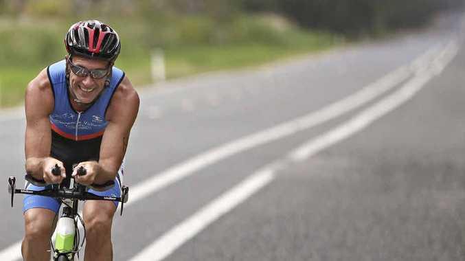 FEEL THE BURN: David Lovell on the bike leg of the Clarence Valley Triathlon. PHOTO: VICKI JAMES CREATIVE IMAGERY