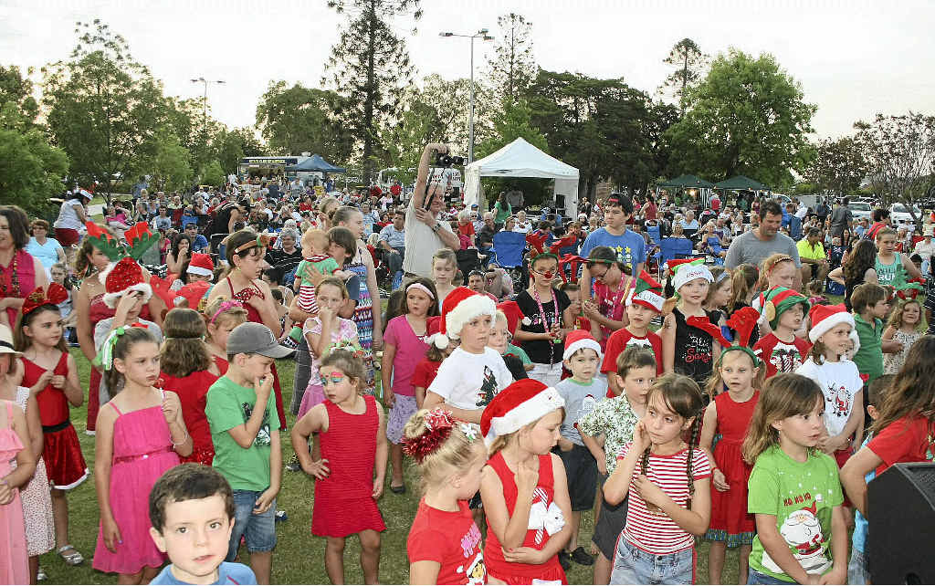 Huge crowd turns out for the 2012 Carols By Candlelight.