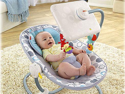 Fisher Price's Newborn-to-Toddler Apptivity Seat with iPad dock.