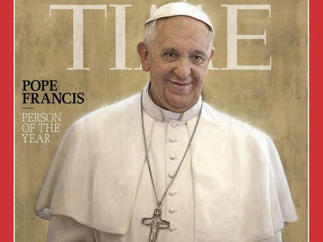 Time's tribute to Pope Francis. Source: Time via Twitter
