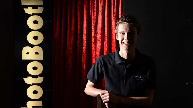 Levi Kajewski is possibly Rockhampton's youngest entrepreneur having built and now run's his own mobile photo booth business. Photo: Chris Ison / The Morning Bulletin