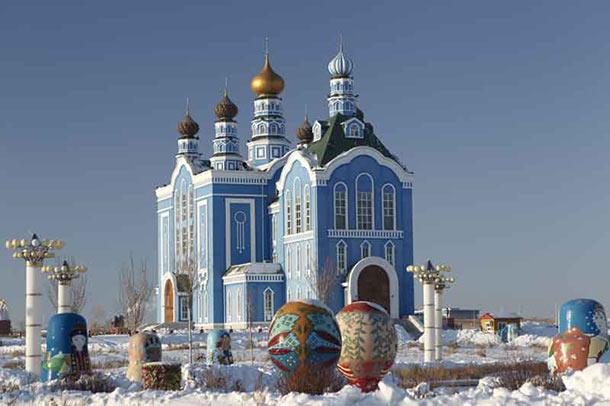A winter wonderland in Inner Mongolia