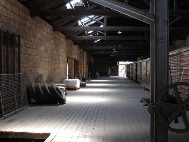 POTENTIAL: Inside the old goods shed at the Warwick Railway Station, which could work as a new venue for the Warwick Art Gallery or even a cafe.