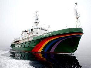 Greenpeace ship collates coal port, climate data