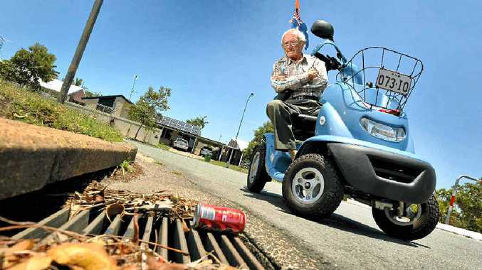 CLEAN SWEEP: Brian Ginn of Wurtulla says the gutters and drains on his local streets haven't been cleaned by the council frequently enough and present a flooding risk when the storm season starts.