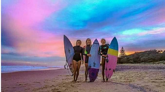 BEAUTIFUL BACKGROUND: Sunshine Coast sunset on Thursday by Debbie JMS.