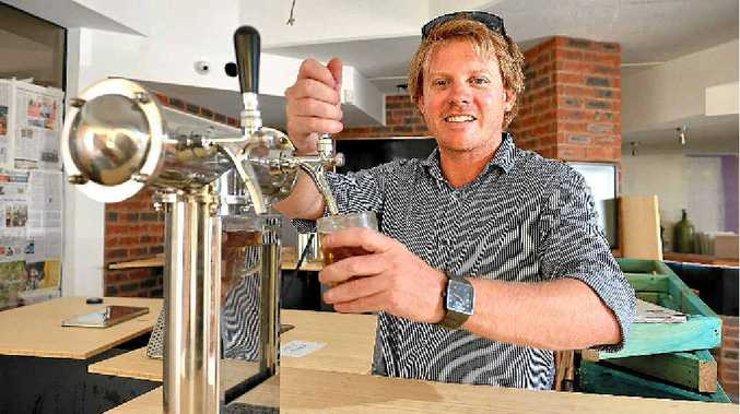 LAGER THAN LIFE: Taps @ Mooloolaba owner Steven Barber toasts the success of his new concept.