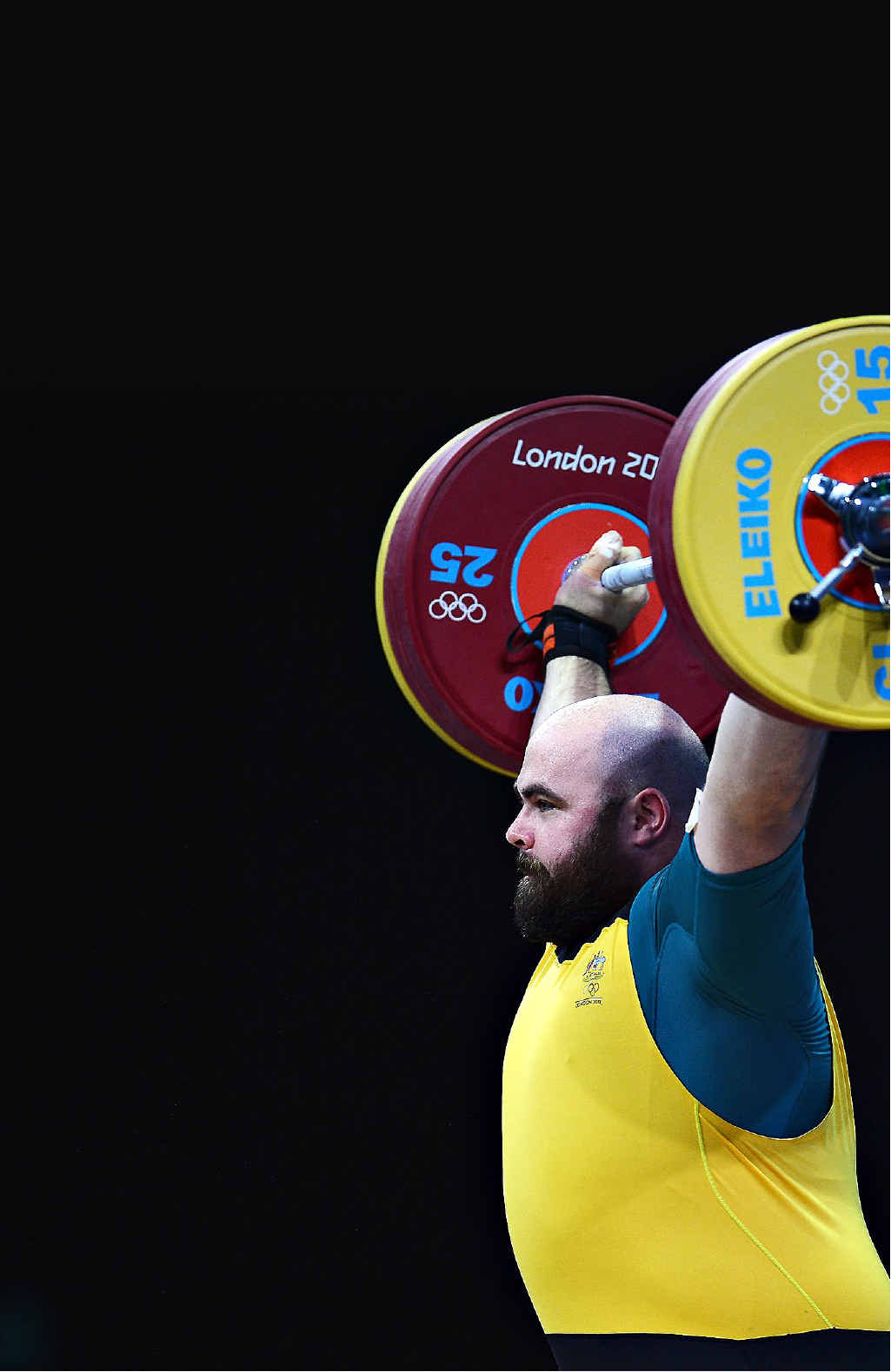 HEAVY-LIFTER: Damon Kelly, competing in the London Olympics last year, may set his sights on representing Australia in the 2016 Games in Rio.