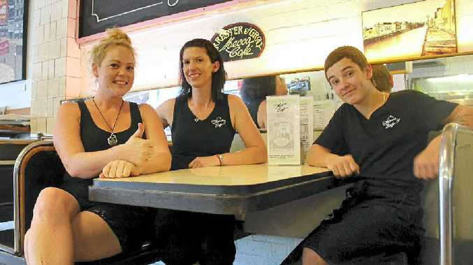 MIND YOUR MANNERS: Should we tax the rude? Mecca cafe waiters Crystal, Kelly and Lachlan politely disagree.