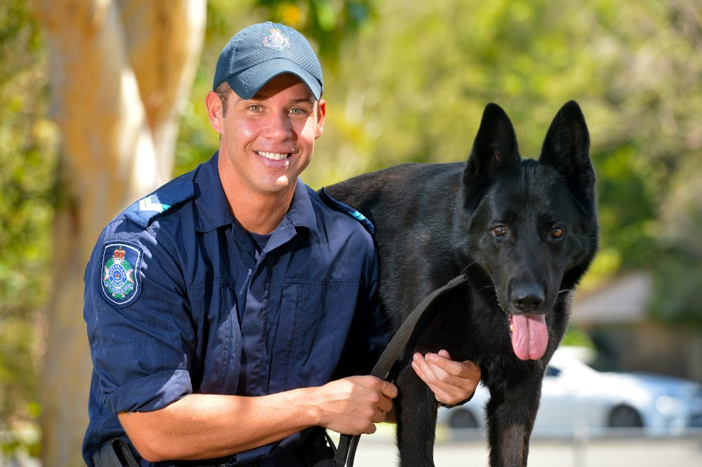 Police dog Odin will be retiring after 5 years of service. Senior Constable Dan Hayward will be looking after Odin in his retirement.