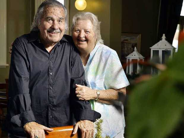 FAMILY TIES: Ron Greenhill and his cousin Leone Hughes (nee Greenhill) have been reunited after an article in The Queensland Times .