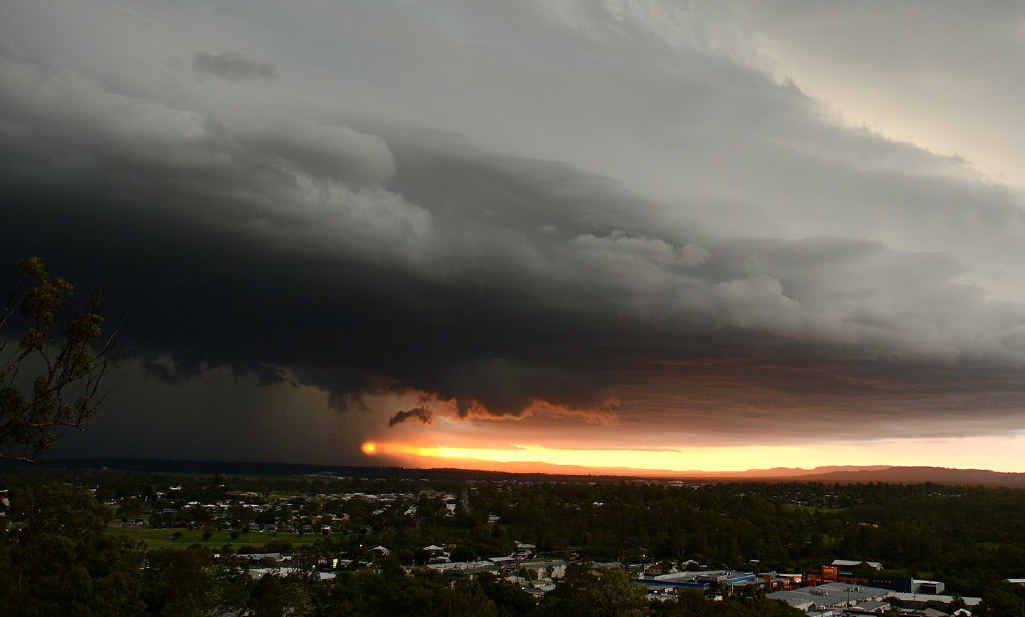 HERE IT COMES: The storm coming from the south-west on Saturday evening.