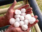 PELTED: Golf ball-sized hail fell at Bunjurgen, near Boonah.