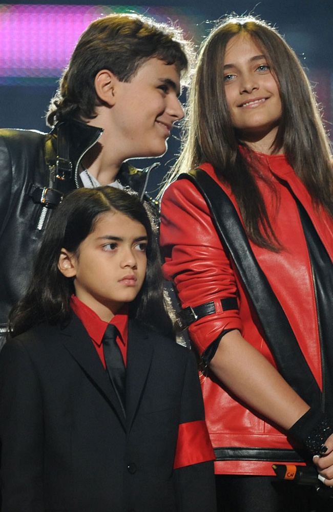 Prince Michael, Blanket and Paris Jackson.