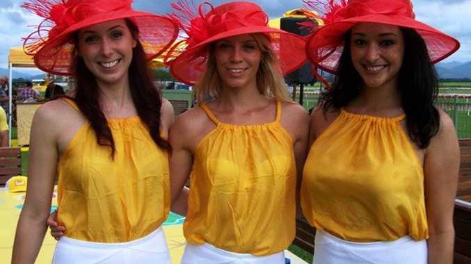 Beer garden hostesses at Murwillumbah race track.
