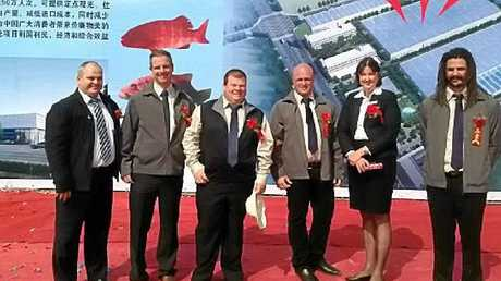 IT'S OFFICIAL: From left: Andrew Myers (Aline), William Conn (RADAQUA), Mark Oliver (RADAQUA), Rod Missen (RADAQUA), Cr Jenny McKay (Sunshine Coast Council), and Gerard Adam (RADAQUA) at the ceremony in Zhao'an.