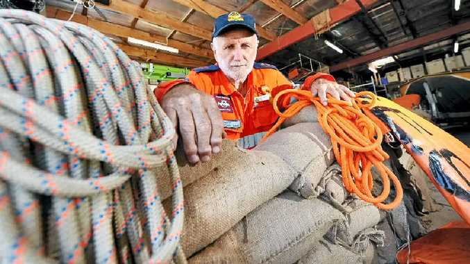 BE PREPARED: Maroochydore group leader David Williams is frustrated people are not taking enough responsibility for their own homes, and urges them to take precautions such as preparing sandbags in case of flooding this summer.