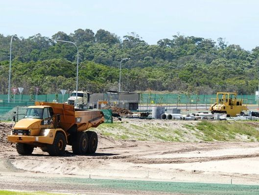 Construction at Casuarina is on track.