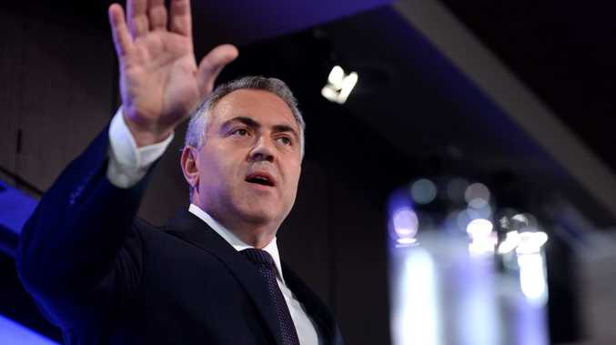 Federal Treasurer Joe Hockey speaking at the National Press Club in Canberra, Tuesday, Dec. 17, 2013. Mr Hockey spoke on the Mid Year Economic and Fiscal Outlook. (AAP Image/Alan Porritt) NO ARCHIVING