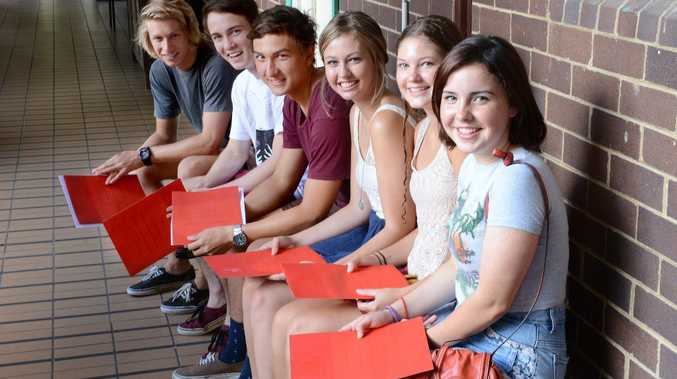 St John's Woodlawn students, from left, Sam Conte, Joe Reidy, Cooper Wakefield, Maddi Gamble, Nikkila Goulding, and Katelyn Burns, have all received early entry offers to universities.