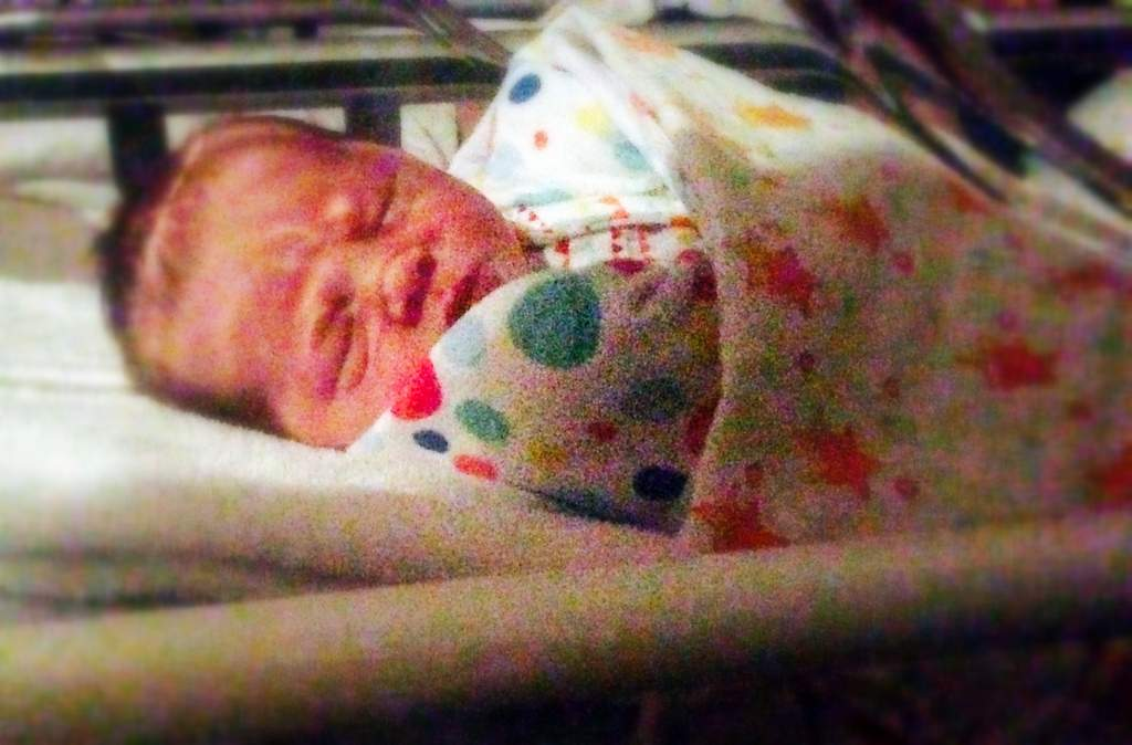 The first image of Clive Palmer's new baby girl - now name Lucy Diamond Stelina Mary Anna Nancy Palmer.