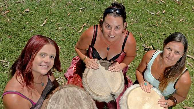 Emma Peel, Tracy Kvassay and Leanne Coley have started a drumming circle in Pottsville.