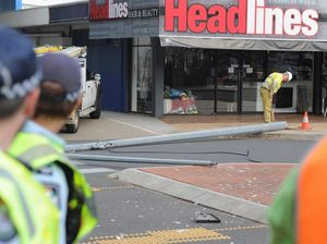 Safety fears after light pole crashes onto road crossing