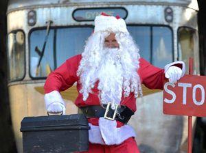 Santa ready for Silver Sleigh Shuttle rides