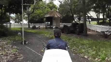 The miniature train ride at Heritage Park in Lismore is a great attraction