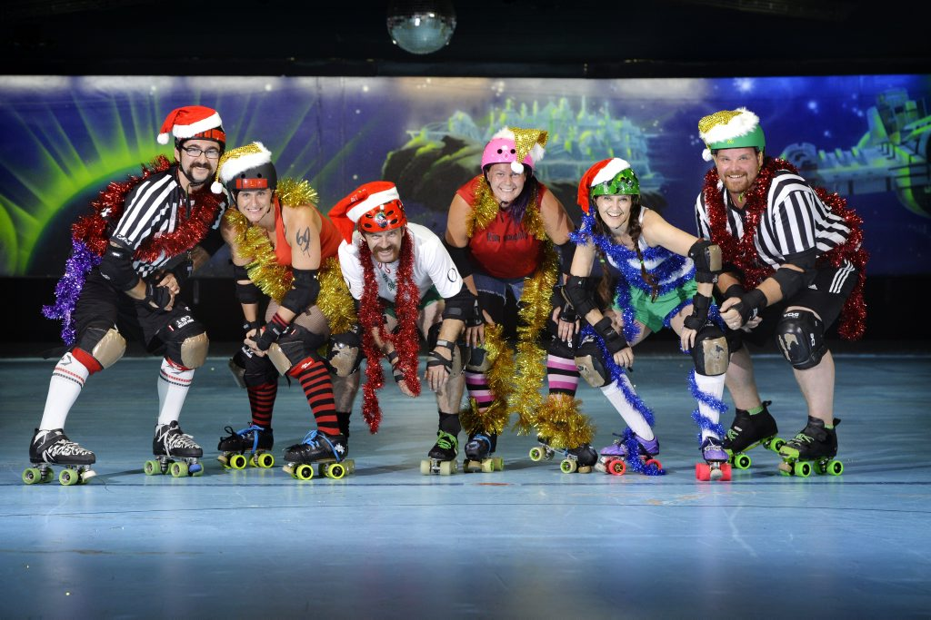 Roller Derby Christmas Carnage on Saturday, 21 December from 7pm at Bundamba Skate Away.