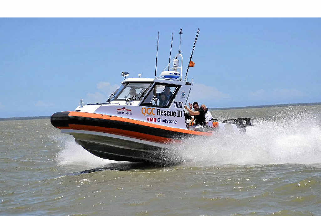 GLADSTONE VMR's rescue boat - ready to help.