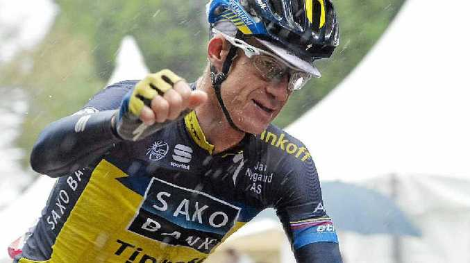 DRUG PROBE: Australian cyclist Michael Rogers has blamed contaminated food for a positive drugs test.