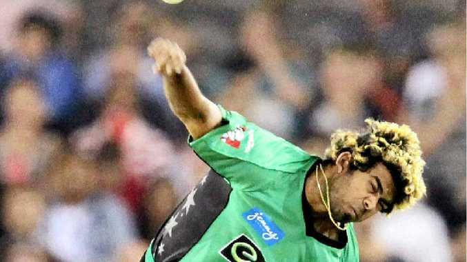 STAR OUT: Lasith Malinga will be absent for the Melbourne Stars' first two games of the Big Bash League as he is on international duty with Sri Lanka.