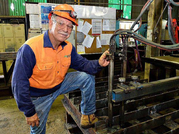 After 49 years Mackay Sugar boilermaker Kevin Sehl, at work at Racecourse Mill, is retiring.
