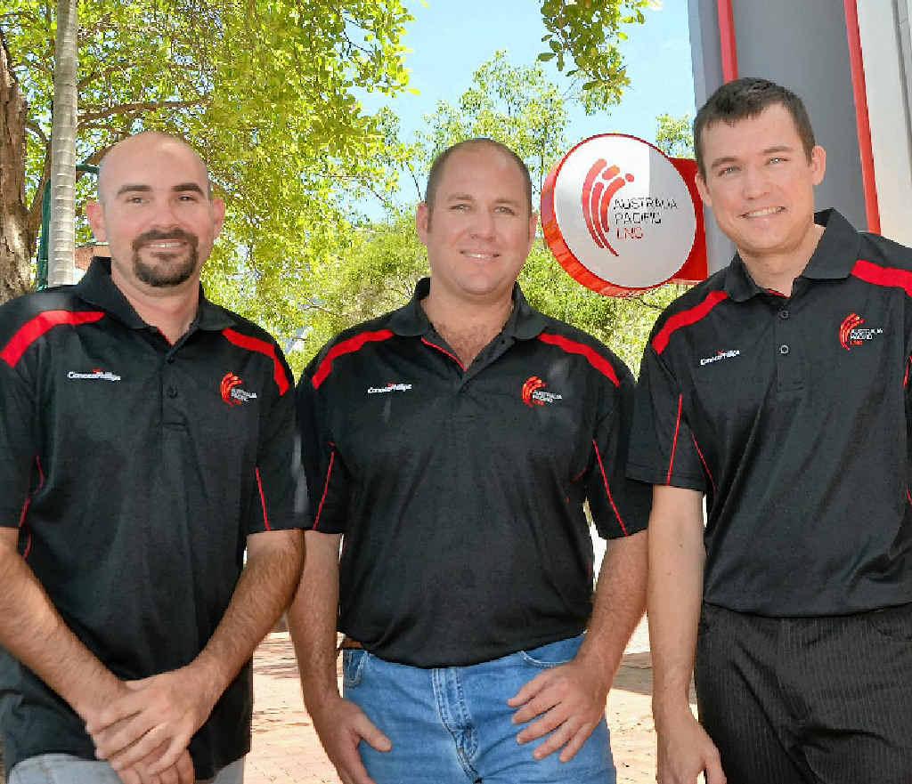 LNG training program graduates Dan Fleetwood, Dave Coates and James Masters.