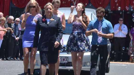 TRAGIC LOSS: The funeral of Barbara Cleak at Lifepointe Baptist Church. PHOTOS: JOHN MCCUTCHEON
