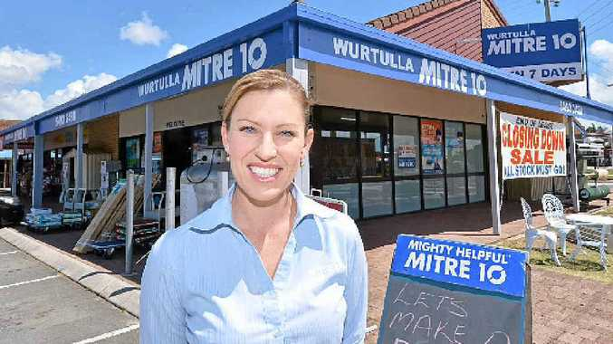 END OF ERA: Lorelle Arnold at Mitre 10 Wurtulla, which will be closing its doors after 28 years.