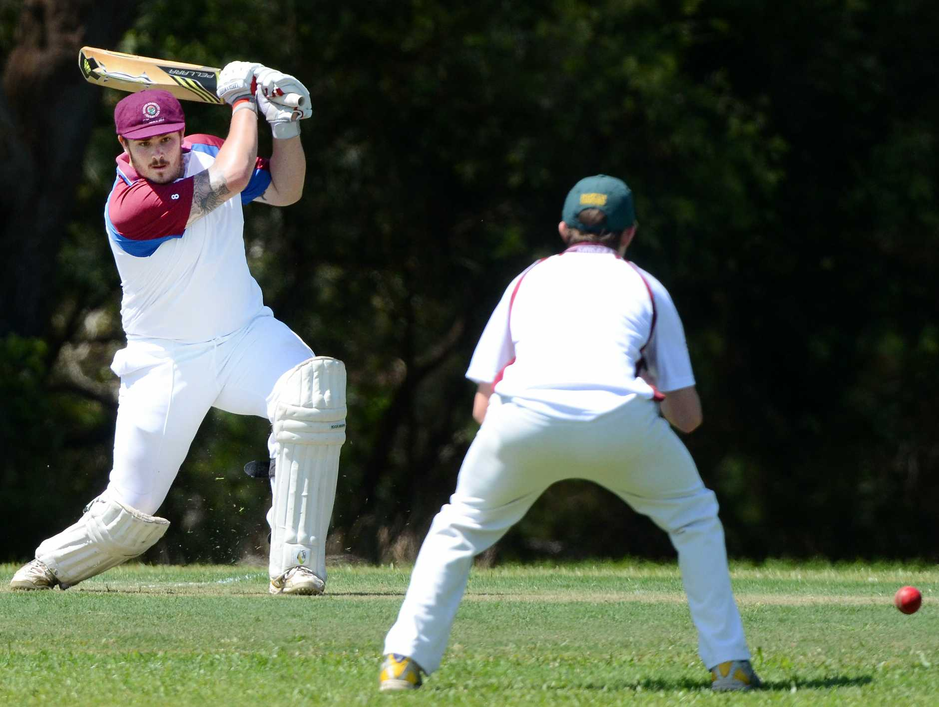 Top order batsman James Bellamy blasted his way to triple figures in a magnificent innings against PBBC Colts.