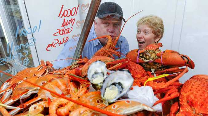BUSY TIME: Naeco Blue Seafoods' Colin and Vicki Hambly are loving the Christmas trade. Photo: JoJo Newby