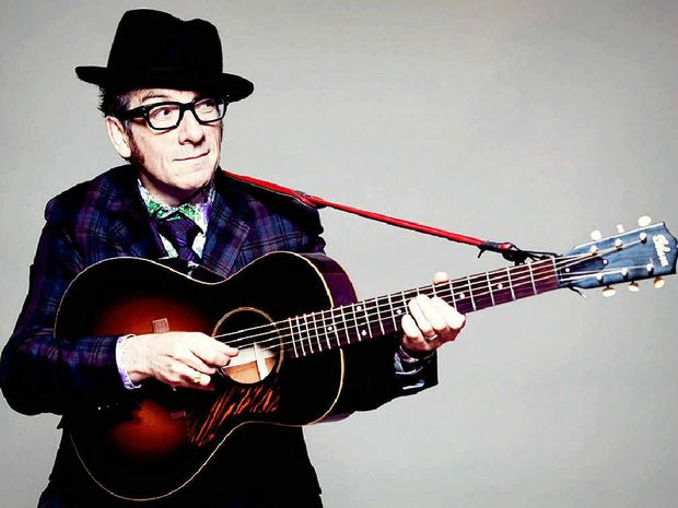 CONFIDENCE IS NOT AN ISSUE: Musician Elvis Costello, aka Declan Patrick MacManus.