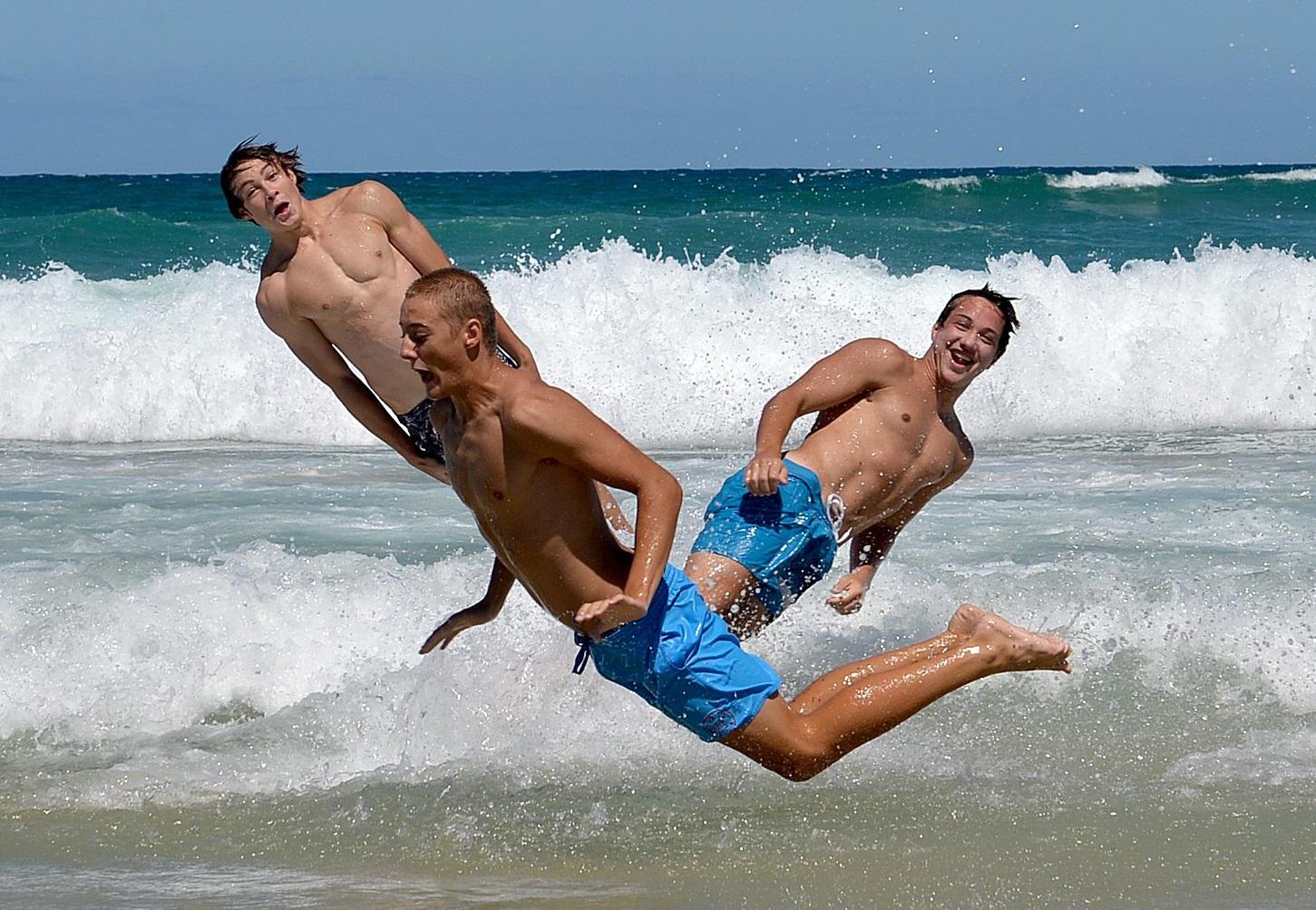 'Leaping Mullet' were seen at Coolum Beach. Photo: Warren Lynam / Sunshine Coast Daily