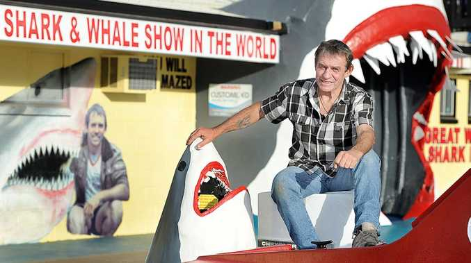 Vic Hislop at the old Shark Show.